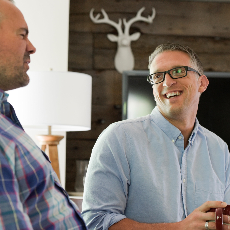 Justin and Patrick laughing