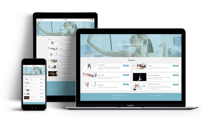 online ballet classes and workout on all platforms: pc, mac, laptop, tablet, iPad, iPhone and all smartphones