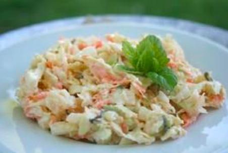 gluten free pasta salad on white plate