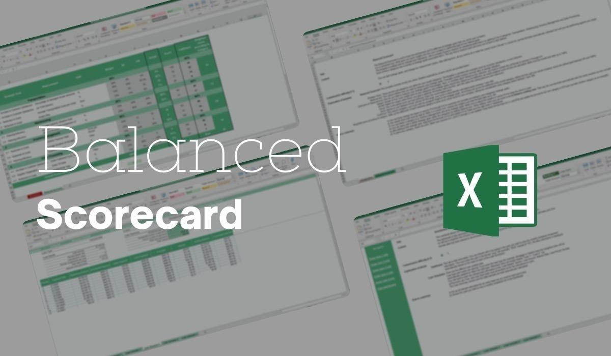 Balanced Scorecard Excel Template Simple Sheets