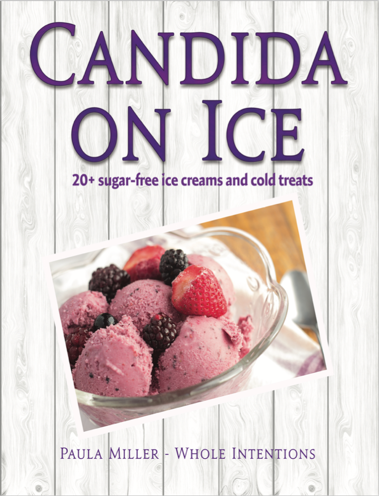 book cover with pink ice cream and berries