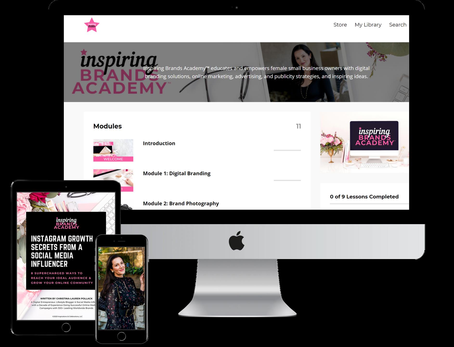 Inspiring Brands Academy Signature Course - Digital Entrepreneur and Business Branding Expert Christina-Lauren Pollack