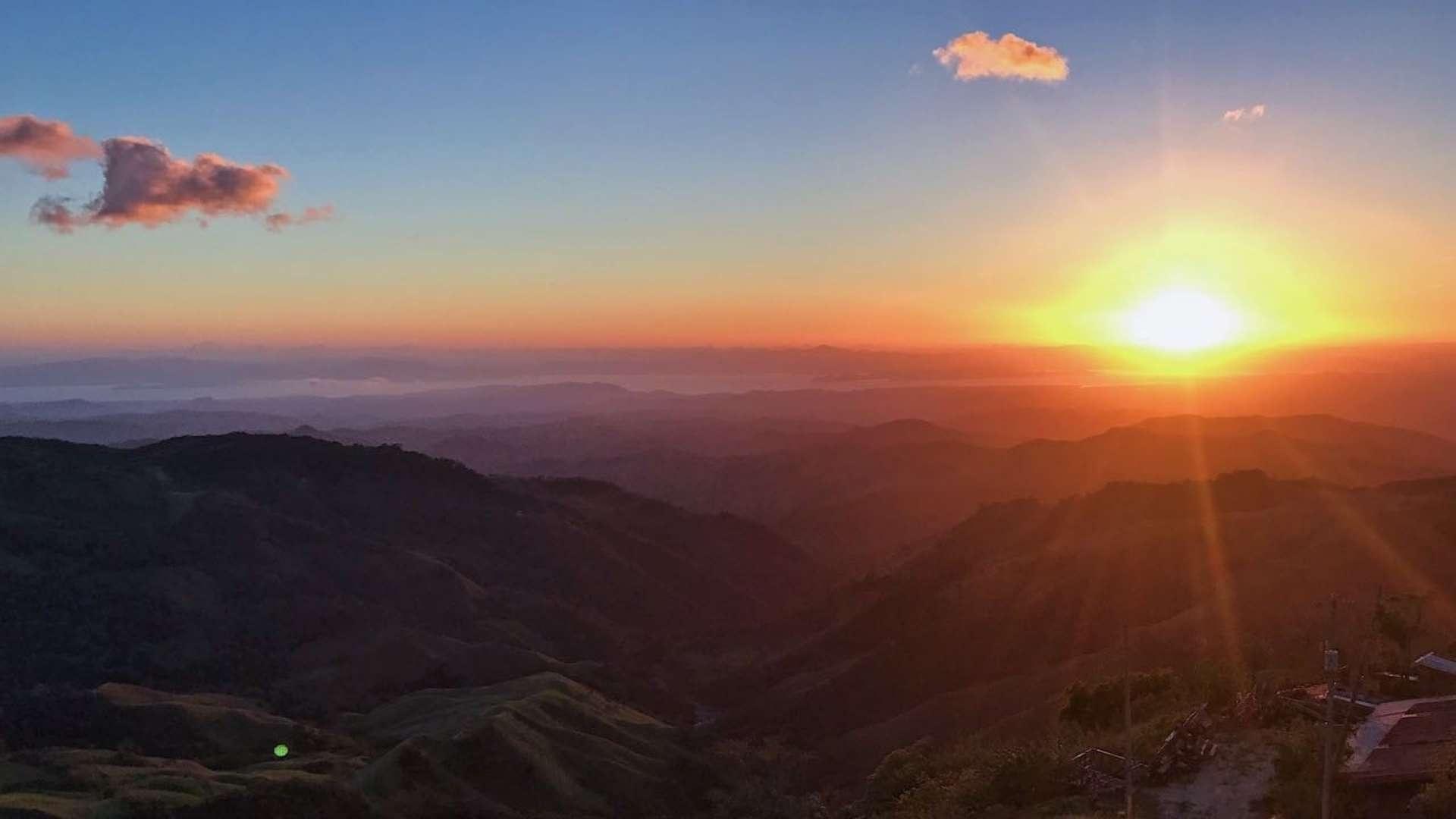 Stunning sunset views in Monteverde, Costa Rica