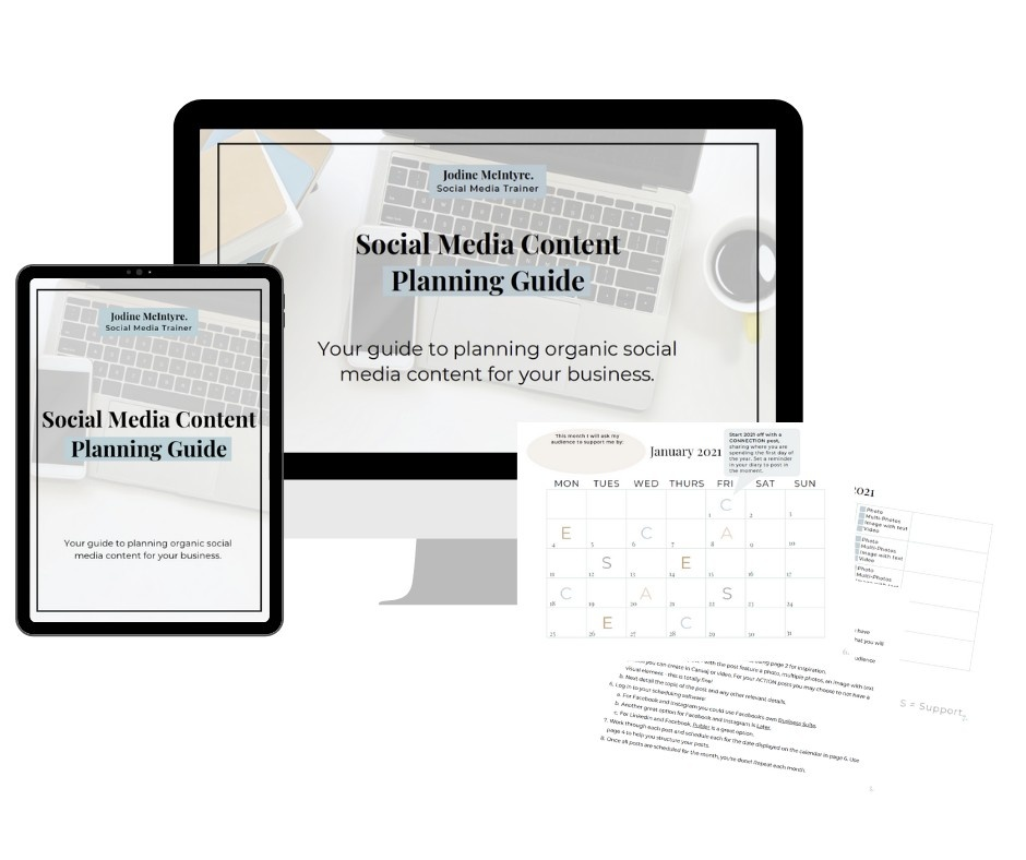 Free social media content planning guide