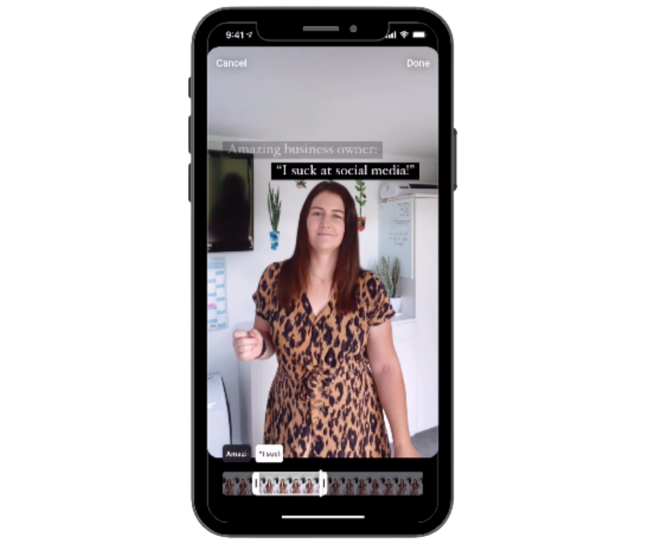 Video training how to create an Instagram Reel