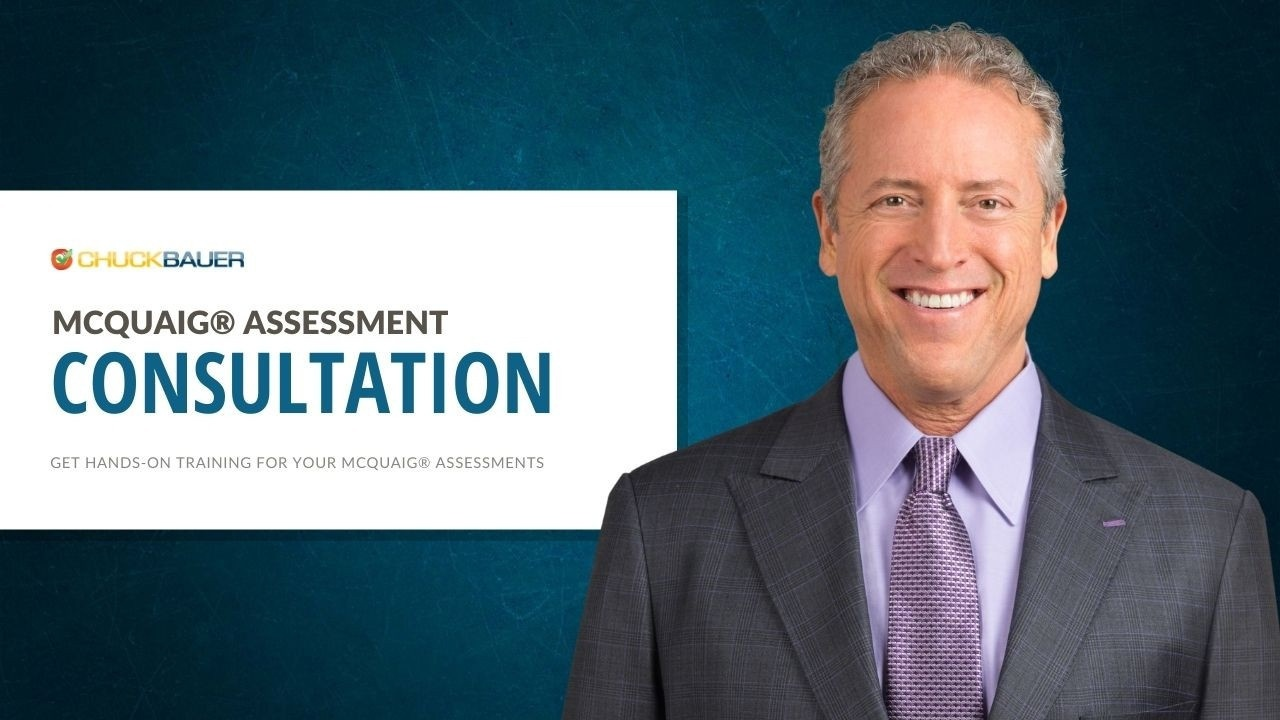McQuaig Assessment - One-on-One Consultation: Get hands-on training for your McQuaig Assessments with Sales & Business Coach Chuck Bauer. - Portrait of Coach Chuck Bauer