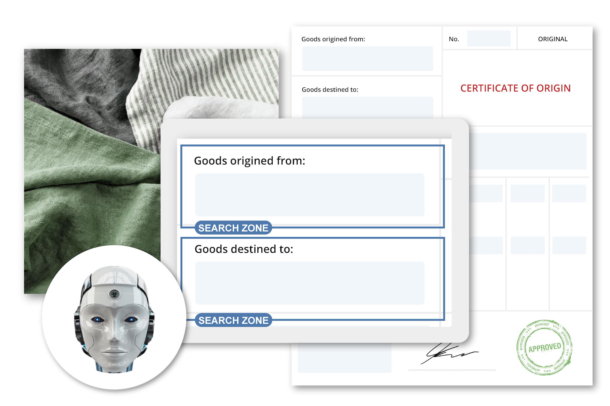Collage artificial intelligence scanning documents