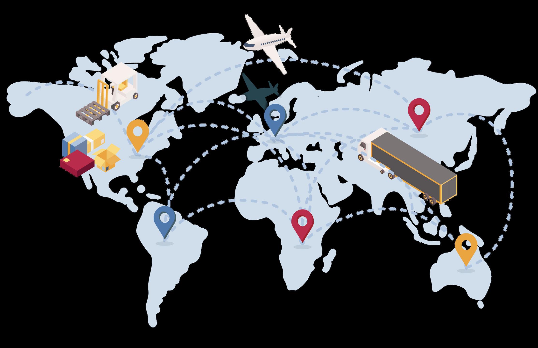 International goods shipment tracking