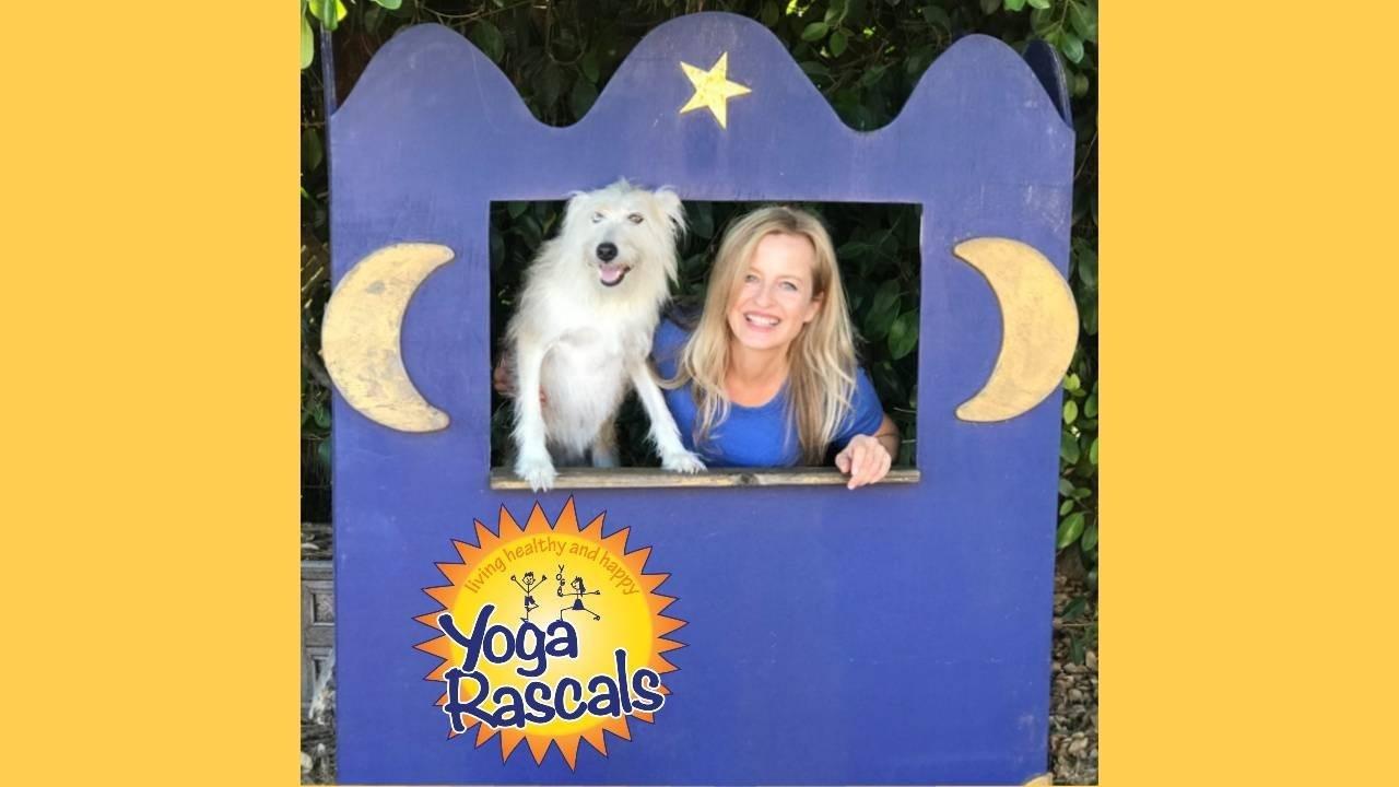 Kids yoga instructor Sünje O'Clancy with her dog Hippie