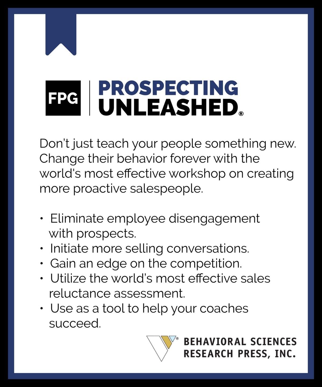 Prospecting unleashed program