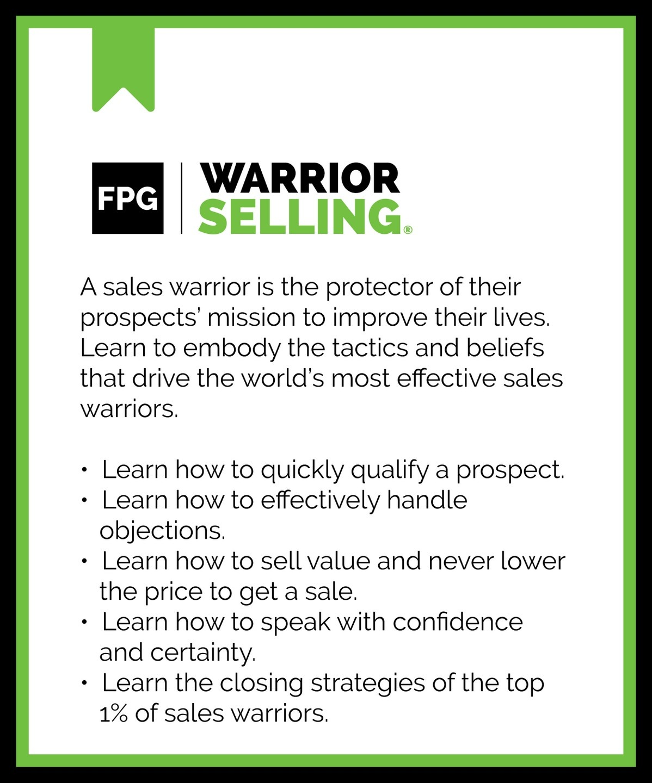 warrior selling program