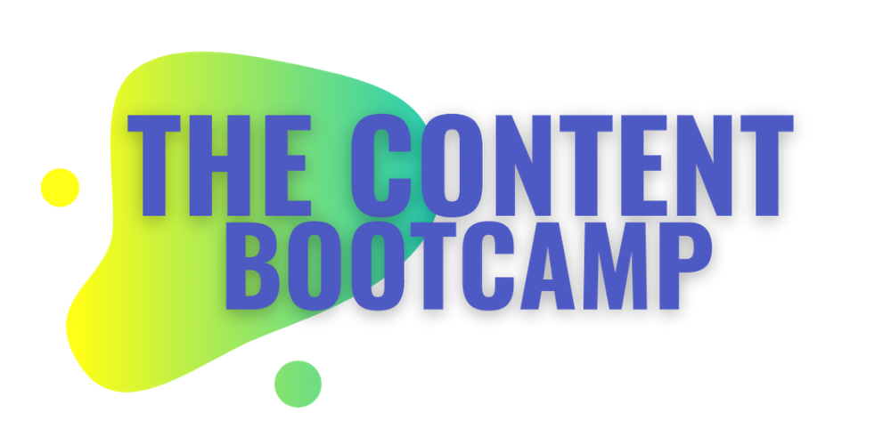 The Content Bootcamp - by Laura Gomez - create a winning content strategy using YouTube, Instagram, and emails!