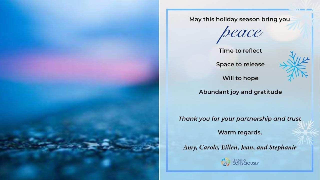 Christmas card from Leading Consciously