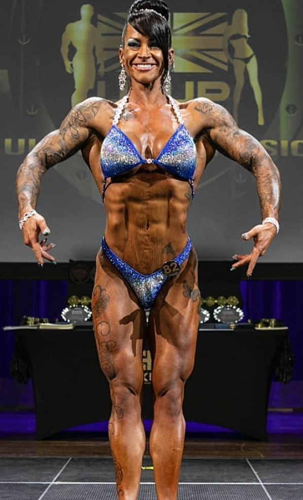 Claire Crowther Overall Champion UKUP figure bodybuilder