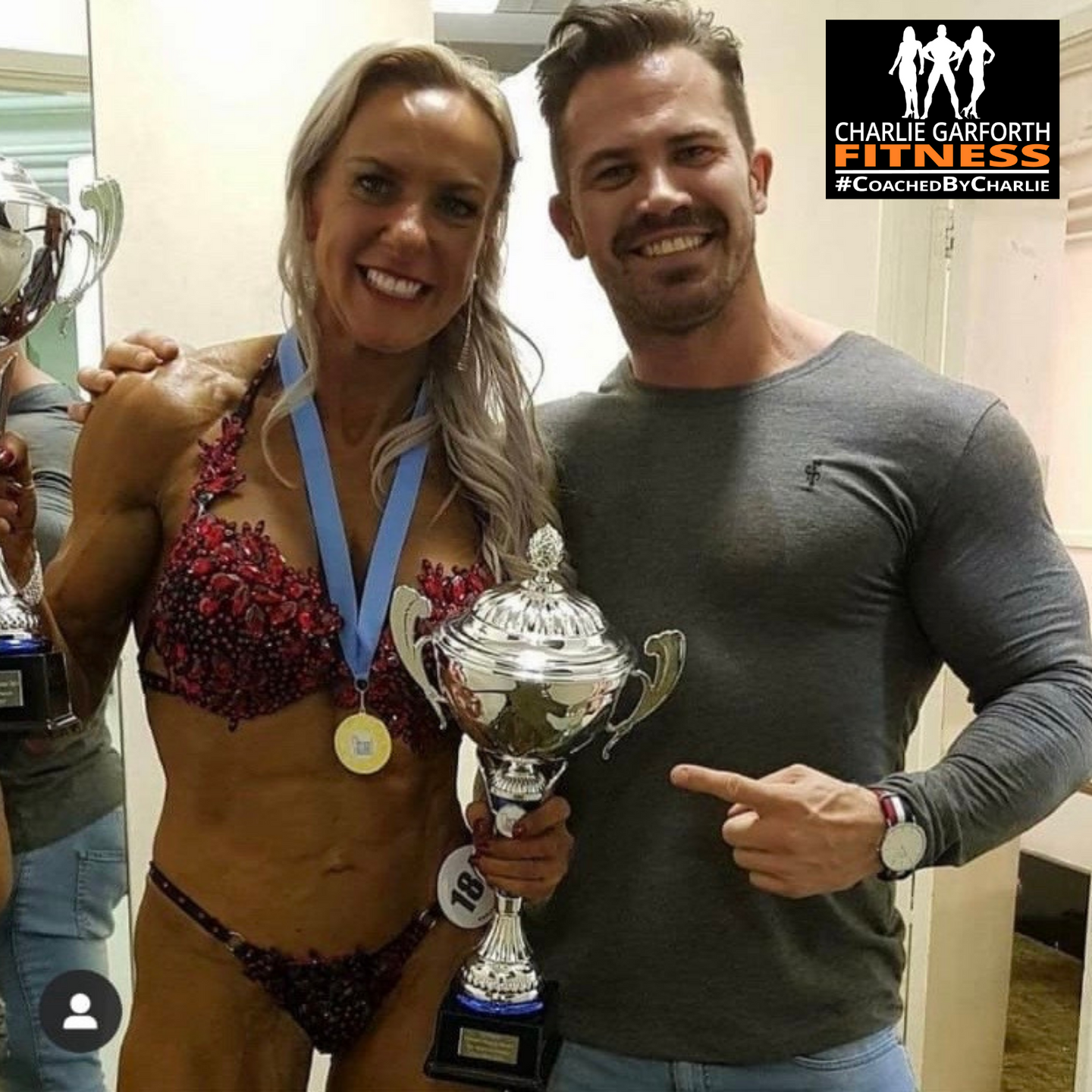 Paula Whitby & Charlie Garforth First Place Trophies