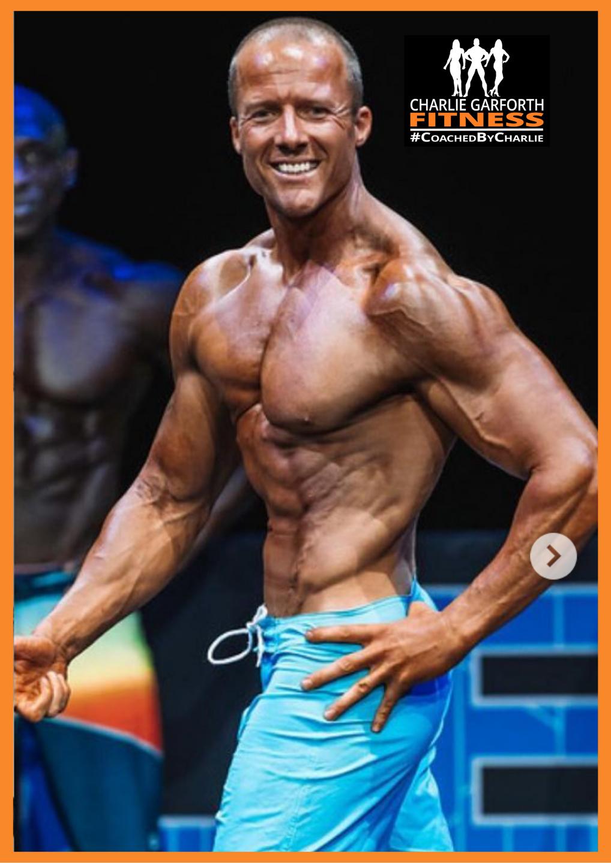 Pure Elite Winner andre dcruz mens physique comp prep client