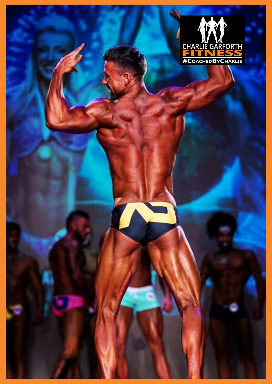 Winning comp prep client Shaun Mackenzie Male fitness model category