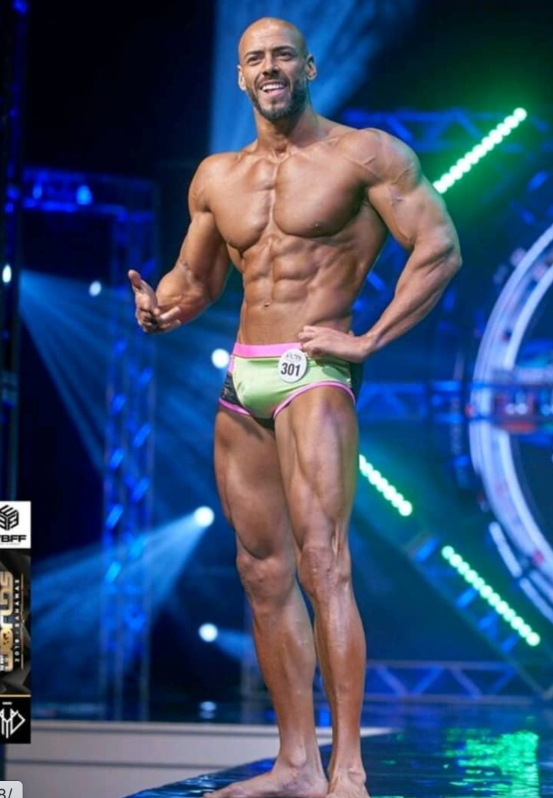 Brian Hazel Male fitness model winner comp prep client