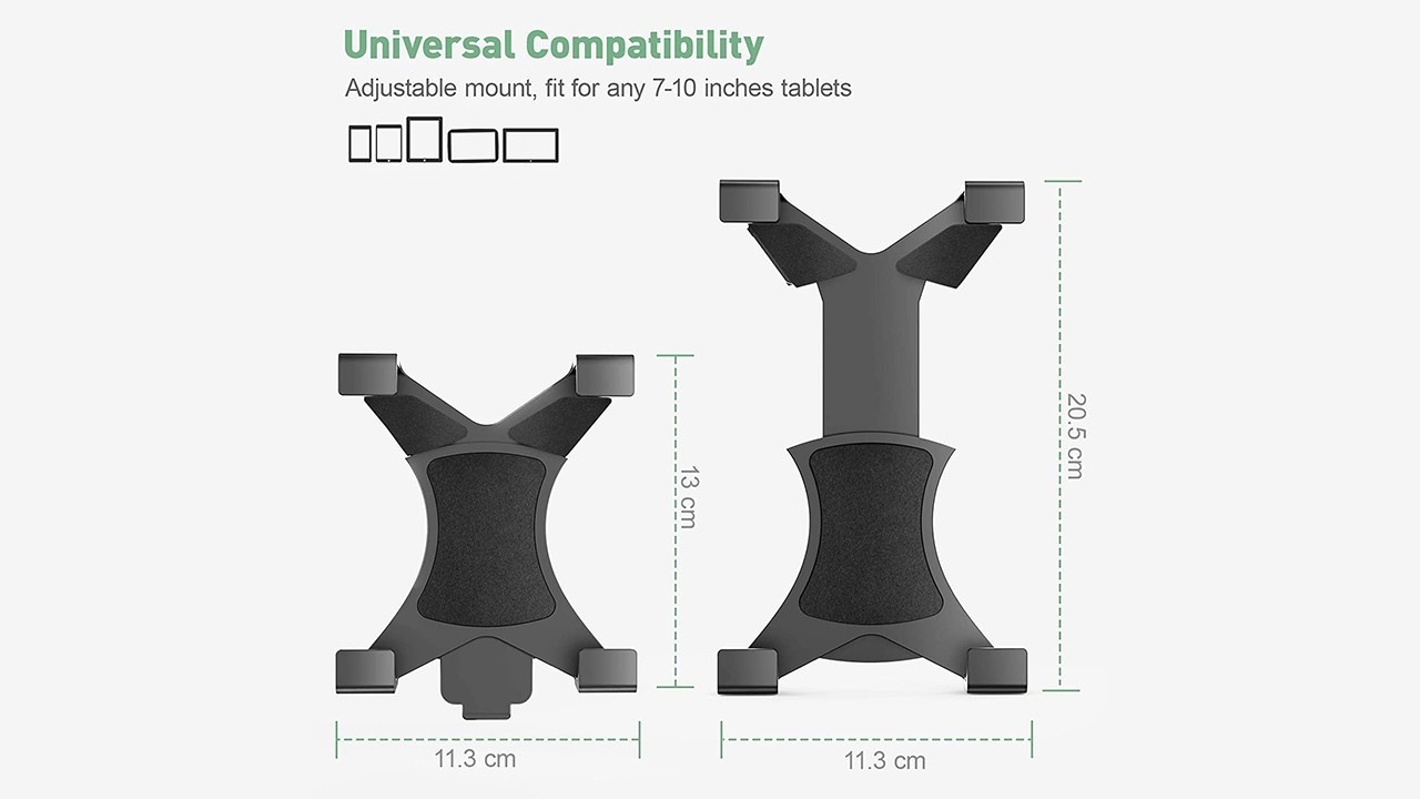 Universal Tripod Mount Adapter for iPad/Tablet (4.8-7.8 Inch)