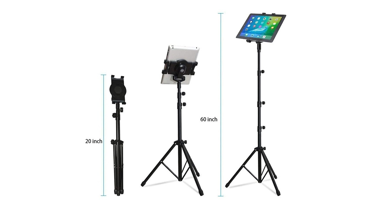 30-60 Inch Height Adjustable Tripod Stand for Tablet/iPad