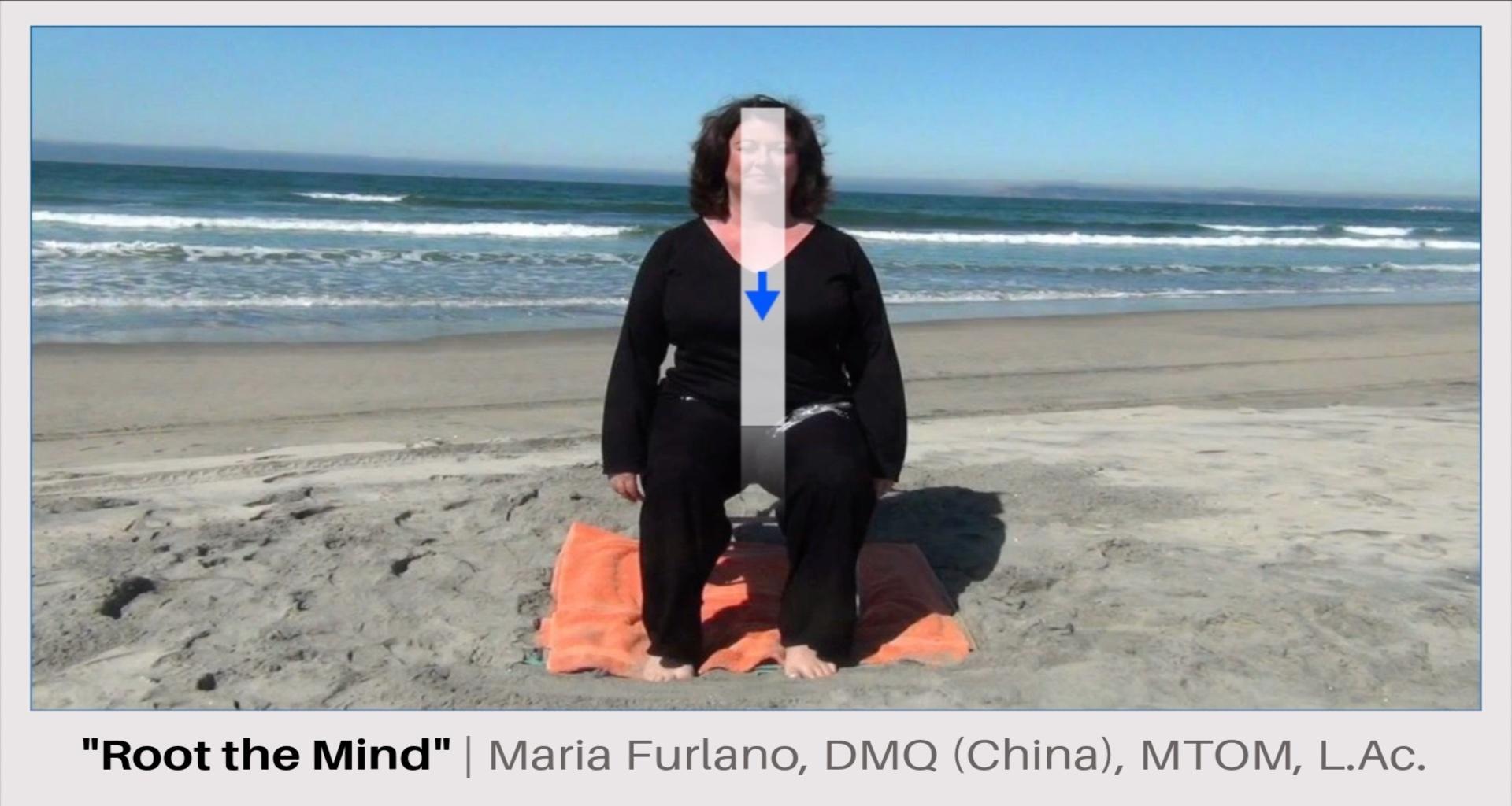 Maria Furlano on beach practicing