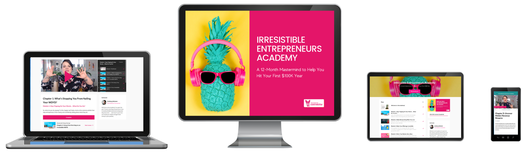 irresistible entrepreneurs academy teaching you how to make your first 100k