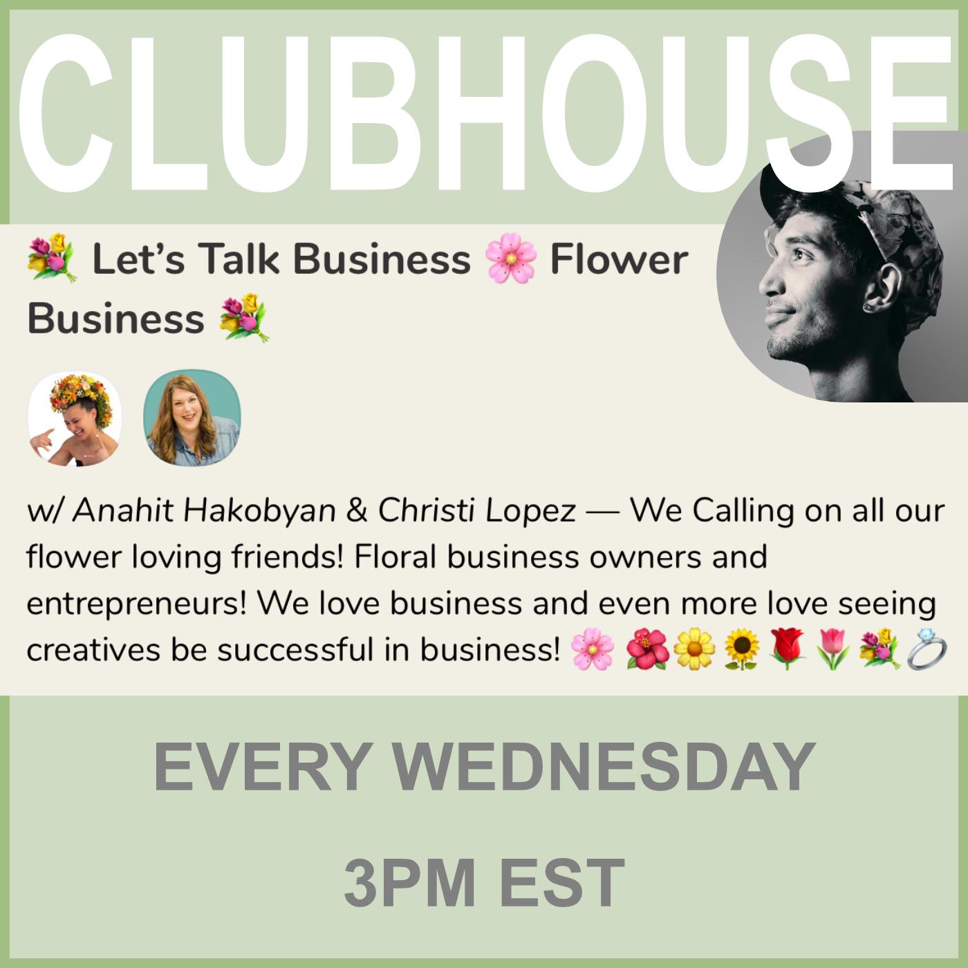 Clubhouse room Viva La Flora Live Podcast