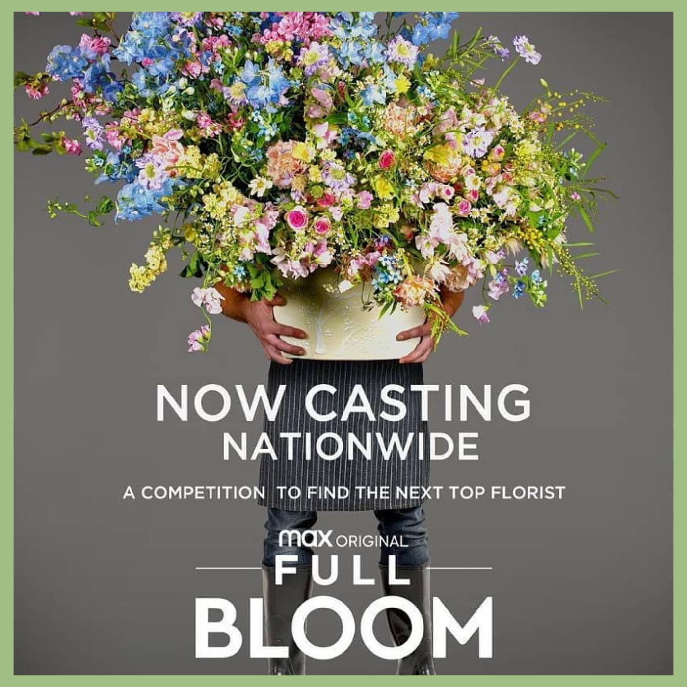 bucket full Flowers for HBO MAX Full Bloom show Viva La Flora Live Podcast