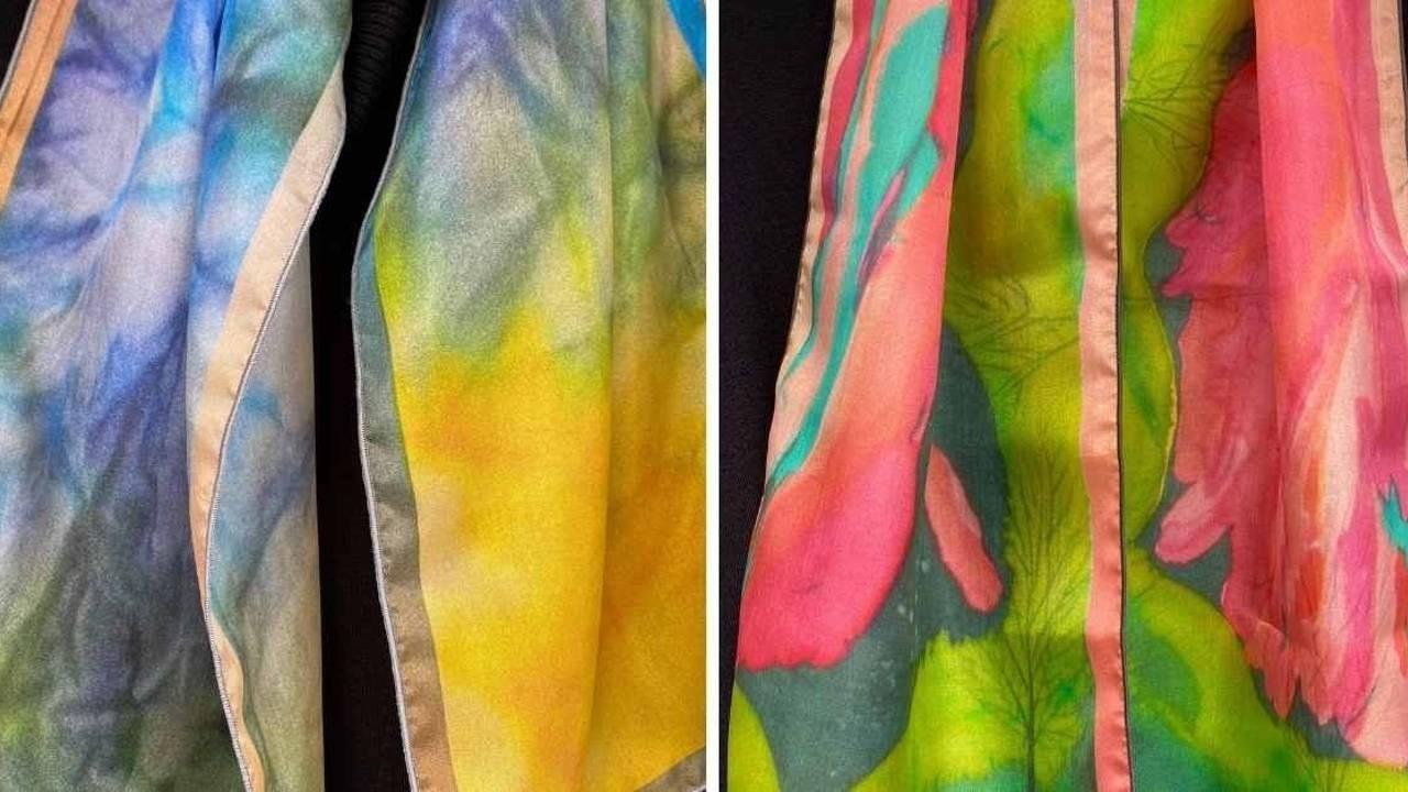 Luxury Silk Scarves by Mila Lansdowne, one of Canadian Scarf Designers