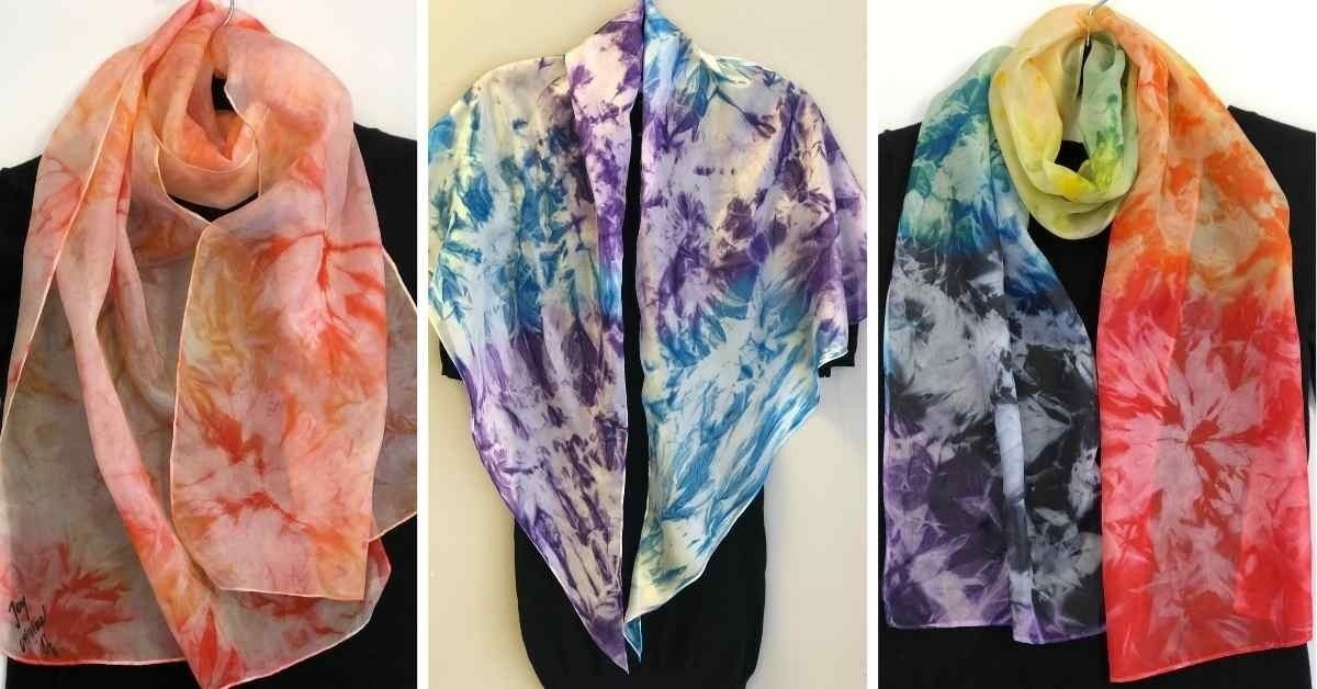 Hand-Painted Silk Scarves from the hand of Mila Lansdowne. No two are same