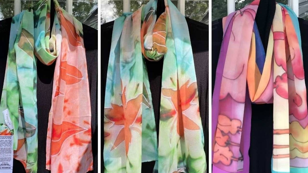 Chiffon! Luxury Women Designer Scarves & Shawls for Dress and Office