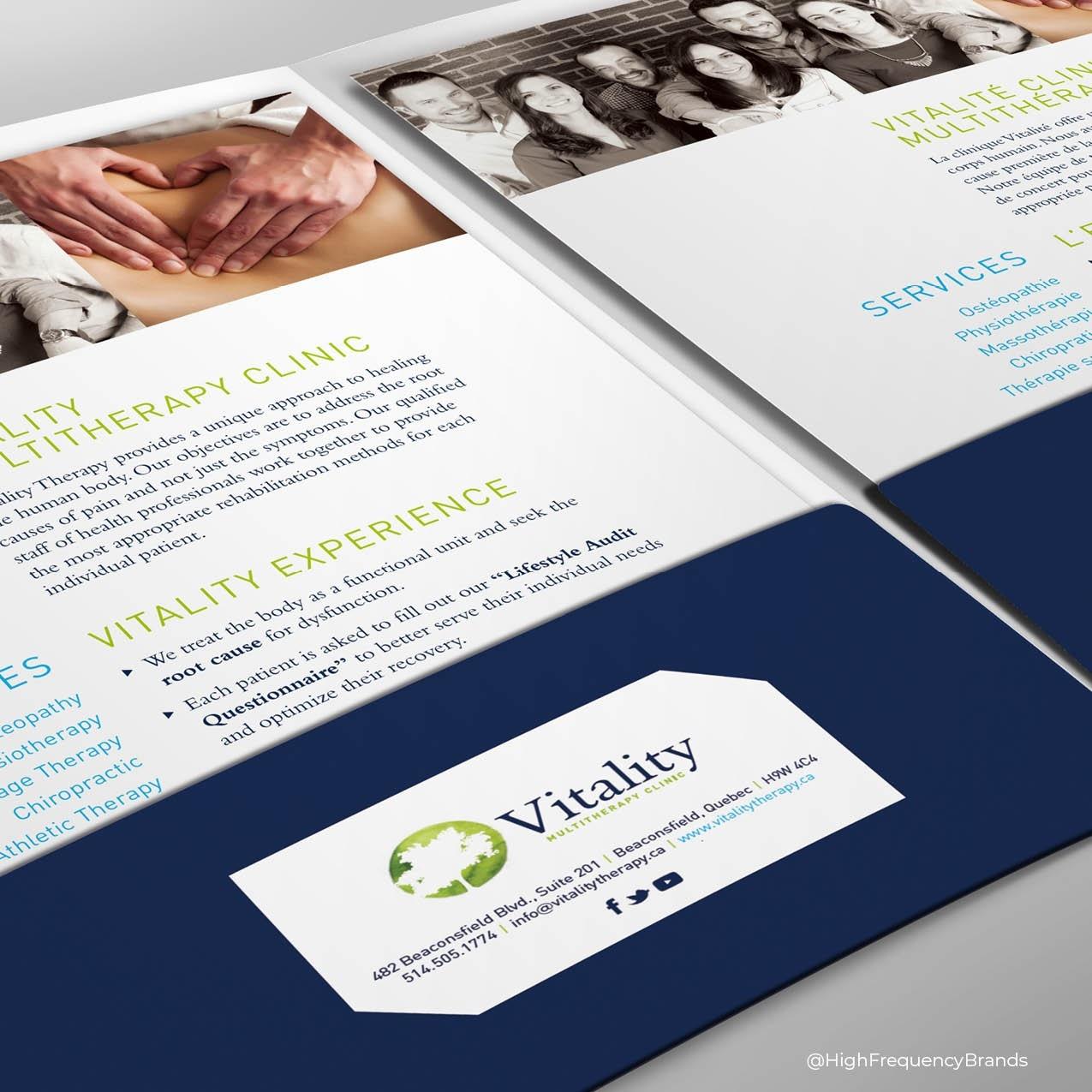Pocket Folder & Insert Design Branded by High Frequency Brands