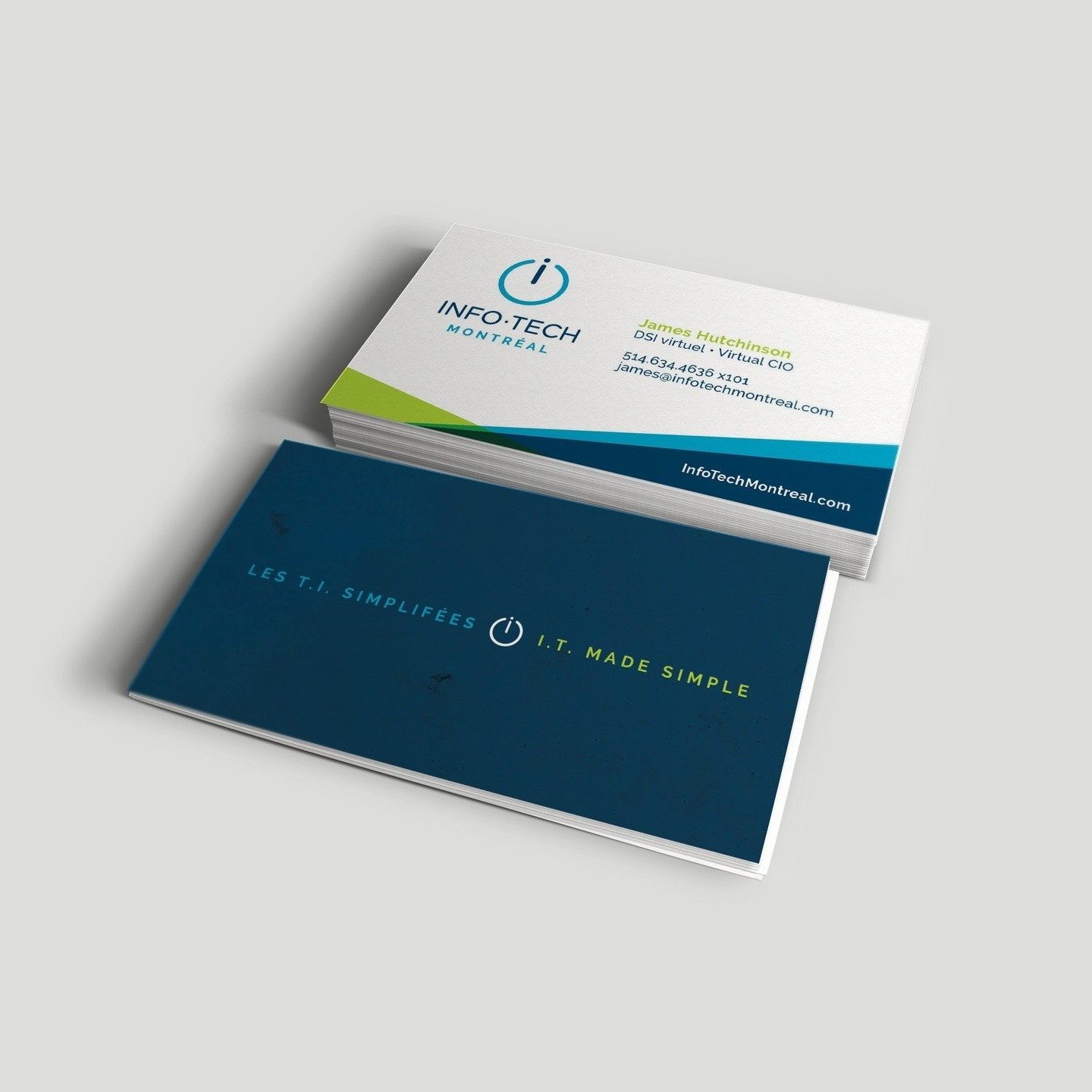 Business Card & Branding Design for IT Company by High Frequency Brands