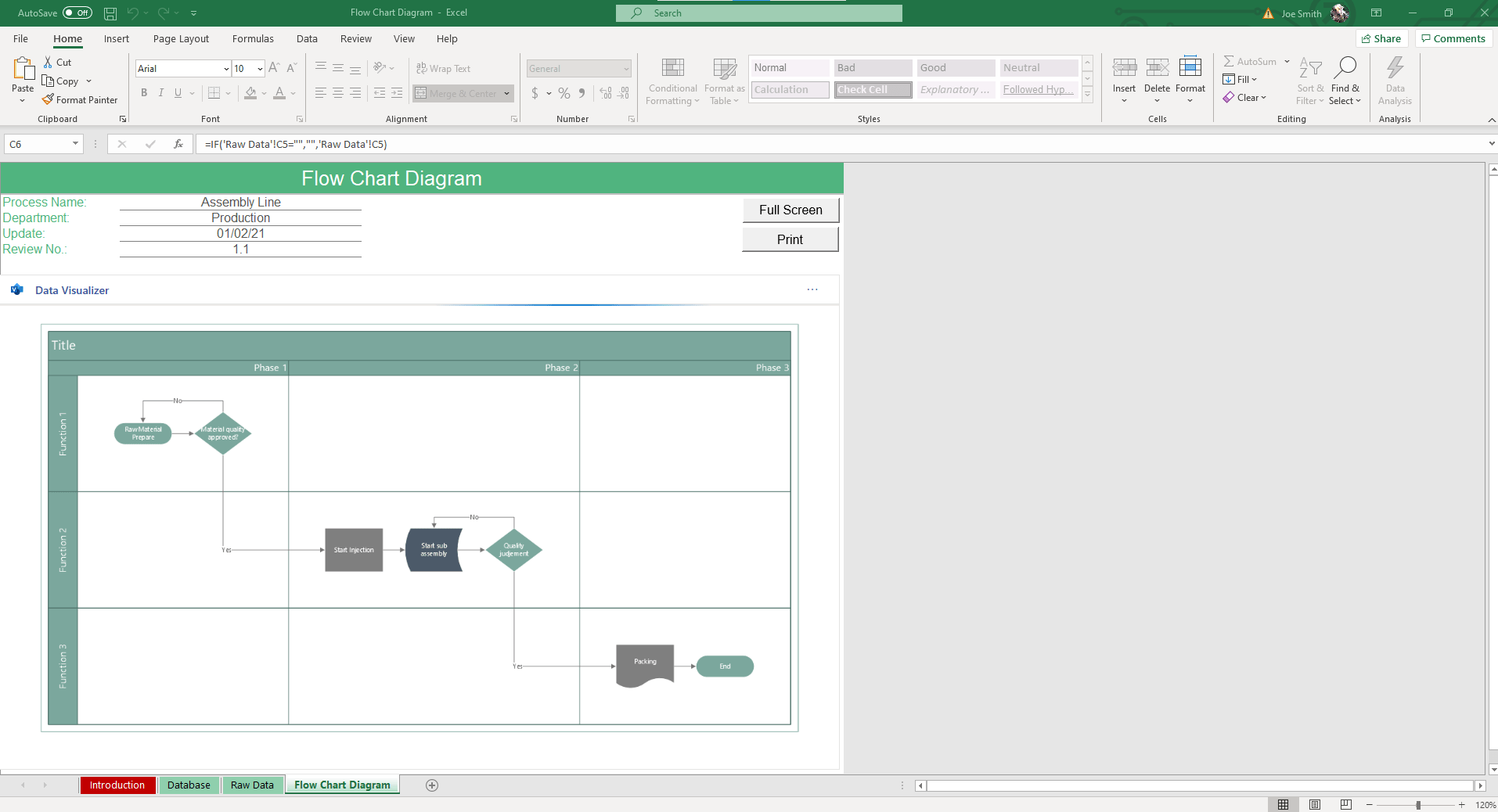 In the Inventory sheet of the Inventory Management Excel Template, input your inventory data and order requirements.