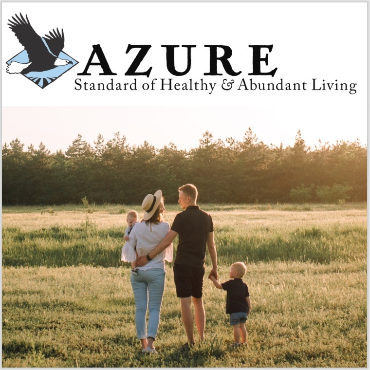 Azure Standard family walking across field together