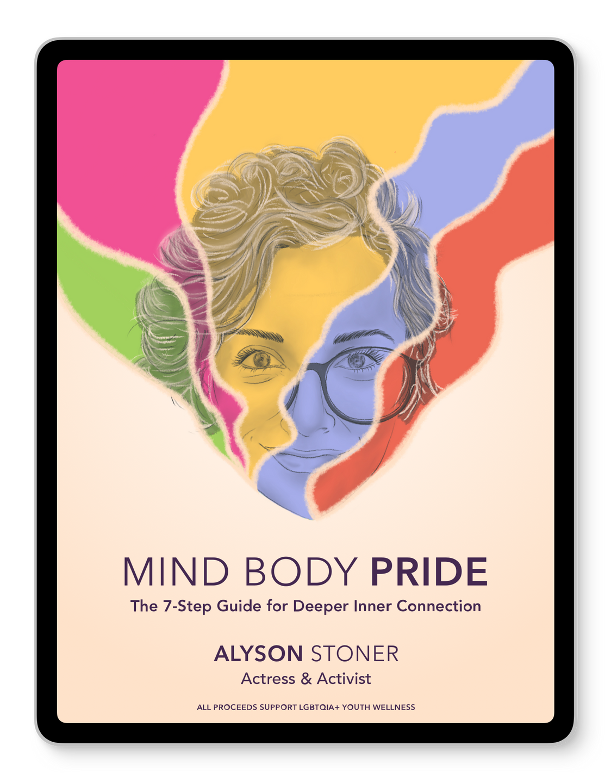 iPad displaying Alyson Stoners