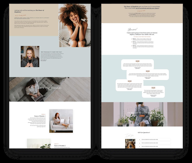 Kajabi Sales Landing Page Template