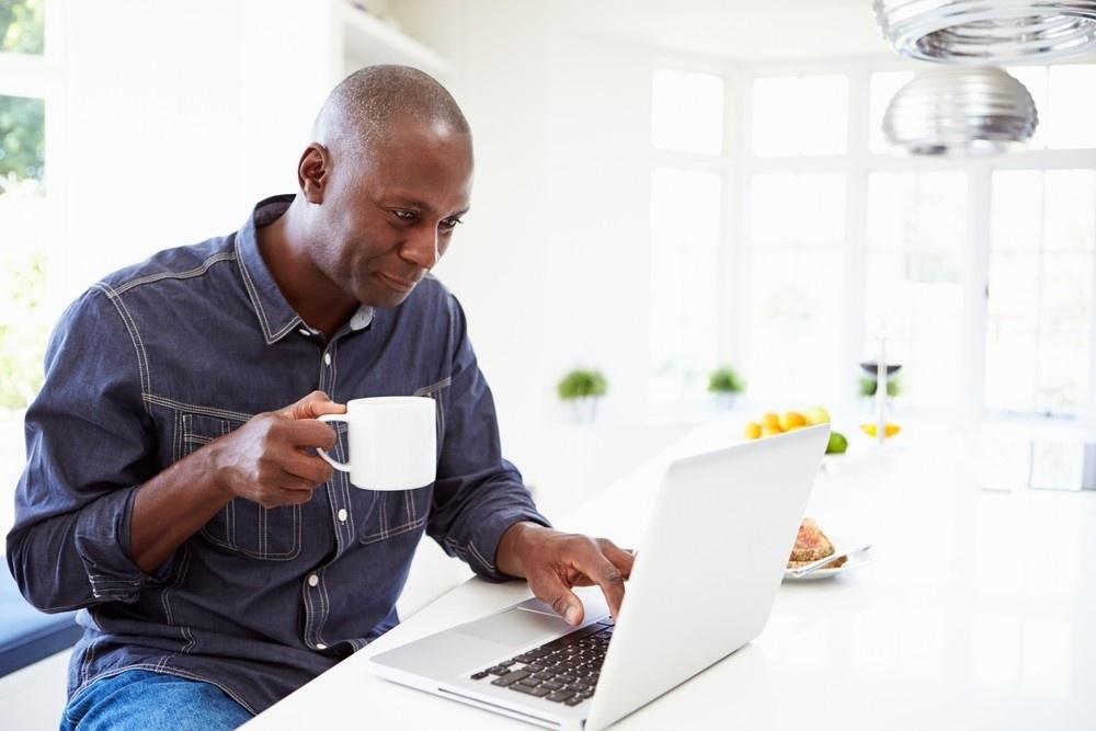 Man Laptop Coffee Governance Transition