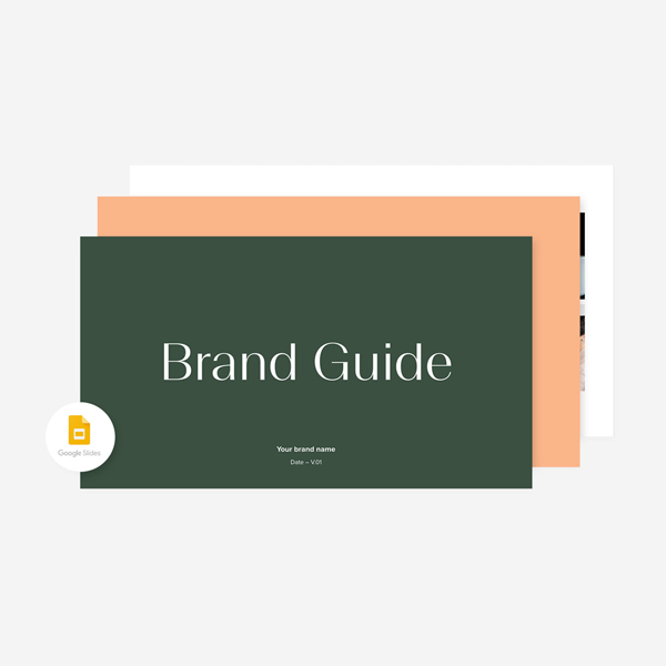 style guide template free brand guideline wellness intentional