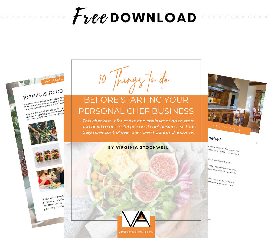10 things to do before starting your personal chef business