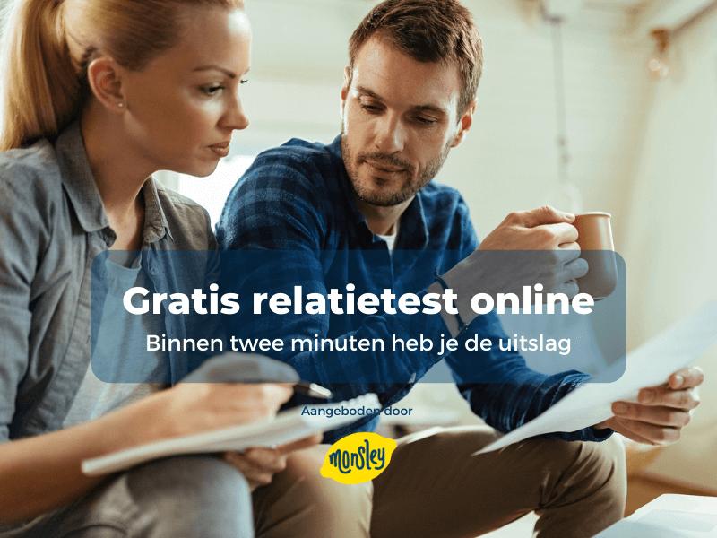 Gratis relatietest online. Binnen twee een uitslag in je e-mail