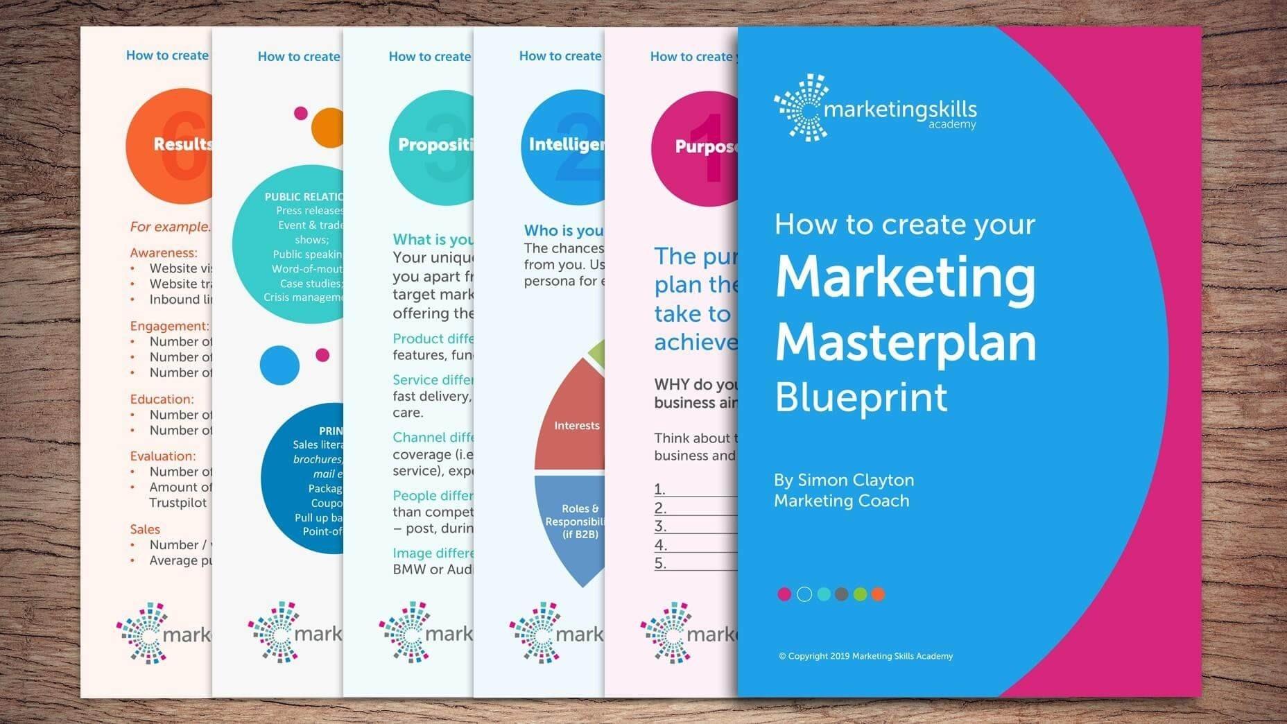 Marketing Masterplan Blueprint Mockup