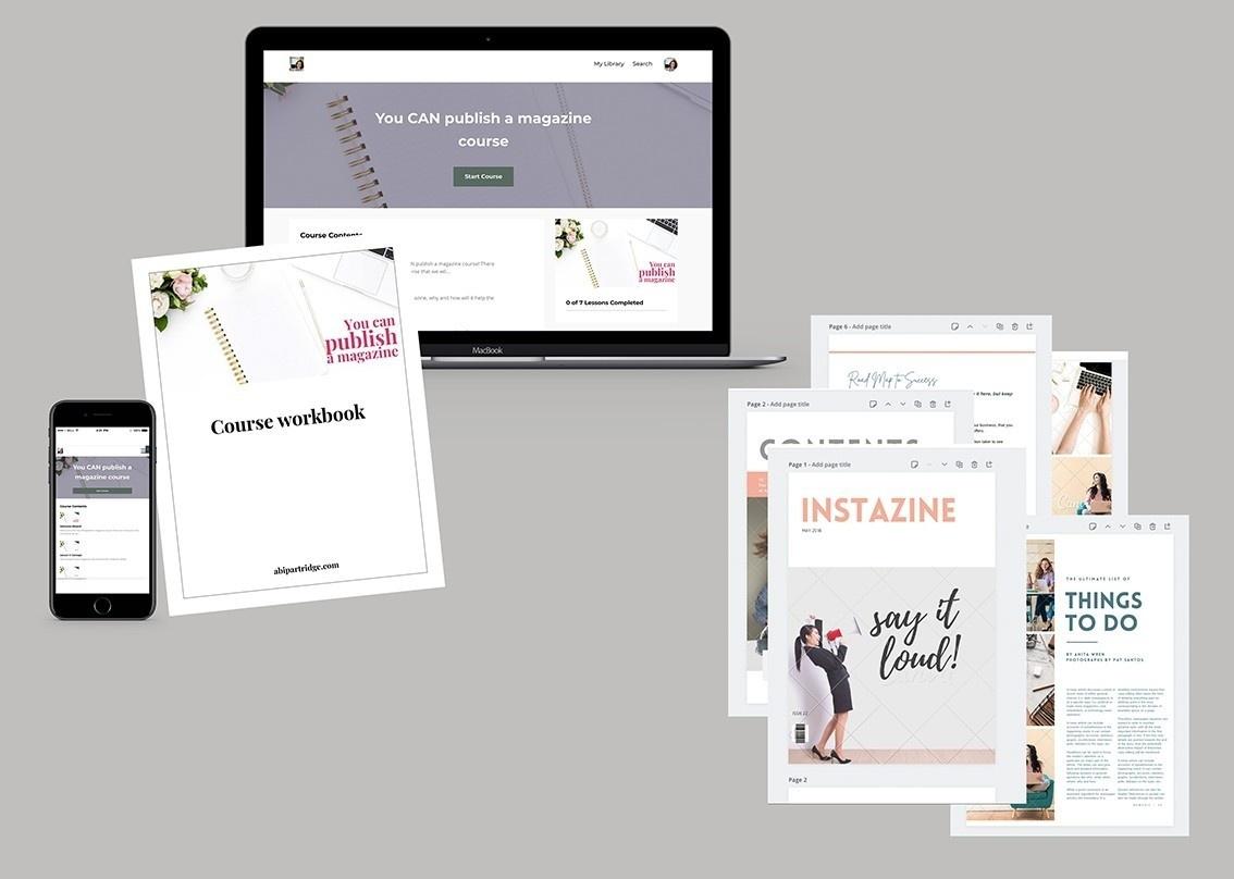 Publish a magazine course contents