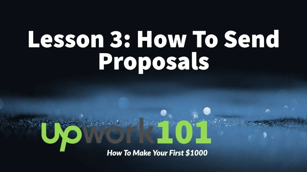 How to send proposals on Upwork