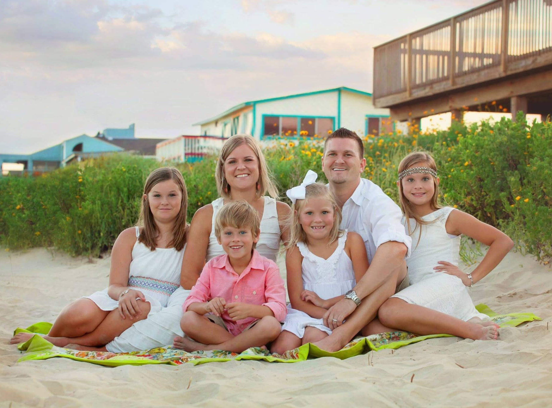 Phillip Warrick together with family