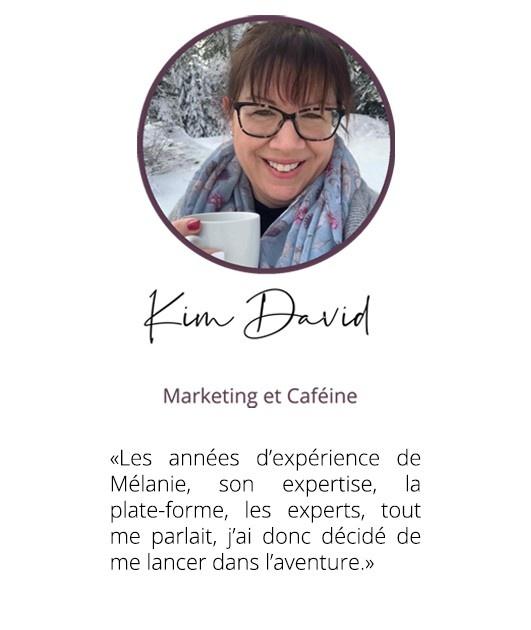 Kim David, Marketing et Caéïne