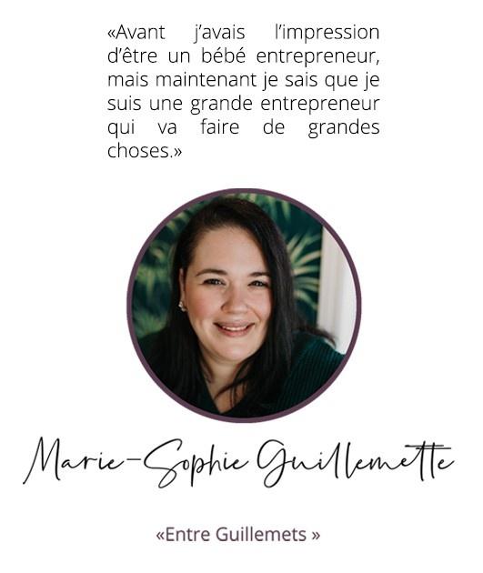 Marie-Sophie Guillemets, Entre-Guillemets
